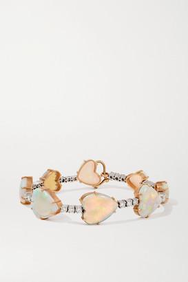 Irene Neuwirth Love 18-karat Rose And White Gold, Opal And Diamond Bracelet - Rose gold