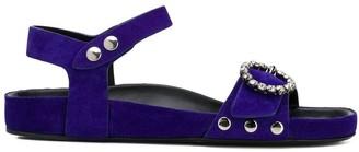Isabel Marant Crystal Buckle Sandals
