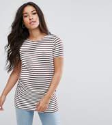 New Look Maternity Stripe Short Sleeve T-Shirt