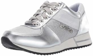 Bebe Women's Brienne Sneaker Silver 7 Medium US