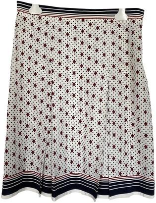 Celine Ecru Silk Skirt for Women