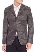 Michael Kors Camo Wool-Blend Sportcoat