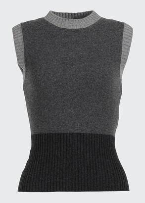 Loro Piana Wall Street Colorblock Cashmere Sweater