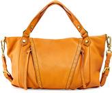 Oryany Candice Studded Leather Satchel, Pumpkin