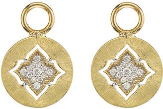 Jude Frances Moroccan 18K Diamond Disc Earring Charms