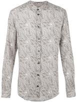 Armani Collezioni printed shirt - men - Linen/Flax - S