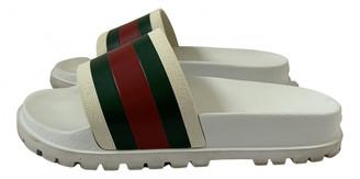 Gucci Web White Rubber Sandals