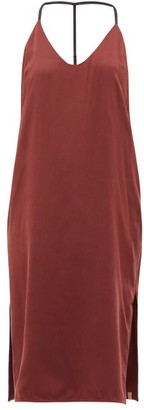 Lunya - Racerback Silk Nightdress - Womens - Burgundy