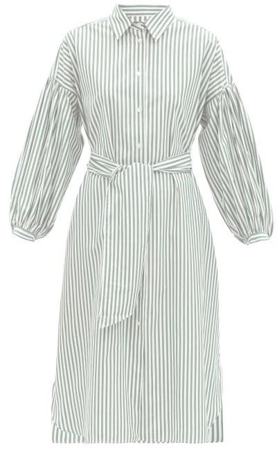 Max Mara Ragazza Shirt Dress - Green White