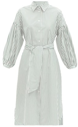 Max Mara Ragazza Shirt Dress - Green White