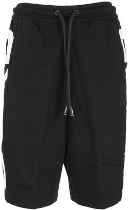 Burberry Fawnley Logo Print Cotton Drawcord Shorts