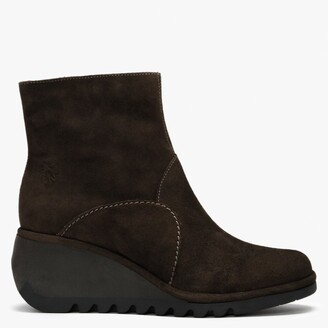 Fly London Nest Ground Suede Wedge Ankle Boots