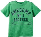 Carter's Short-Sleeve Green Brother Knit Tee - Boys 4-8
