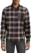 Mostly Heard Rarely Seen Men's Plaid Cotton Button-Down Shirt