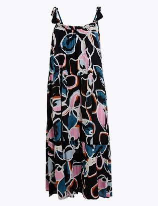 Marks and Spencer Cotton Rich Beach Slip Midi Dress