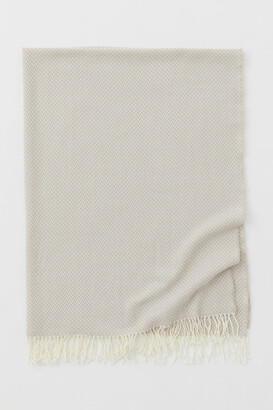 H&M Wool-blend Throw - Brown