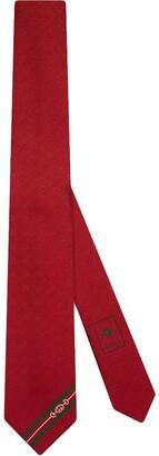 Gucci Striped Horsebit-Print Tie