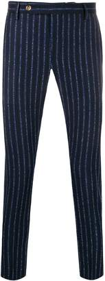 Entre Amis striped pattern tapered trousers