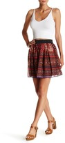 Romeo & Juliet Couture Printed Chiffon Woven Mini Skirt