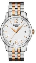 Tissot T0632102203701 Women's Tradition Two Tone Date Bracelet Strap Watch, Silver/Rose Gold
