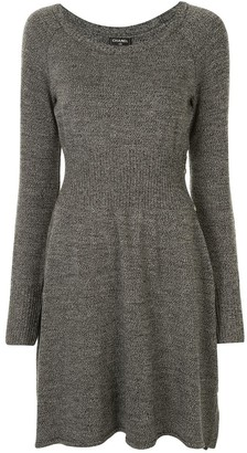 Chanel Pre Owned Long-Sleeve Fine-Knit Dress