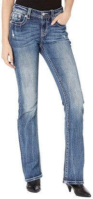 Miss Me Chloe Bootcut with Horseshoe Embellishment in Dark Blue (Dark Blue) Women's Jeans