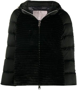 Herno Faux-Fur Panel Puffer Jacket