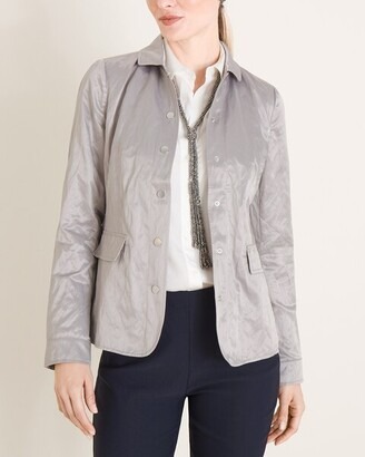Chico's Textured Metallic Jacket