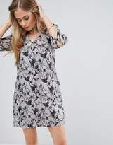Bellfield Passi Tie Front Printed Shift Dress