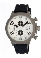 Breed Arnold Chronograph White Dial Black Silicone Strap Men's Watch