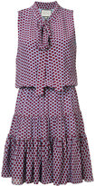 Alexis spotted pussy bow dress - women - Silk/Polyester - XS
