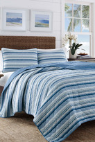 Tommy Bahama Boat Stripe Full/Queen Quilt & Sham 3-Piece Set - Blue