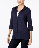 Style&Co. Style & Co Petite Hooded Knit Jacket, Only at Macy's