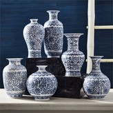 The Well Appointed House Set of 6 Blue and White Porcelain Dynasty Vases