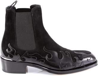 Alexander McQueen Flame Cuban Boots