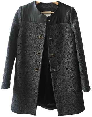 Sandro Grey Wool Coat for Women