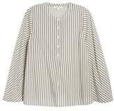 Madewell Women's Stripe Flare Sleeve Shirt