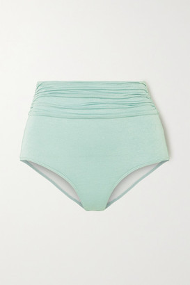 Dodo Bar Or Salinna Metallic Ruched Bikini Briefs - Sky blue