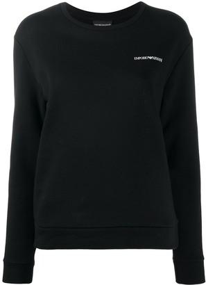 Emporio Armani Long Sleeve Logo Print Jumper