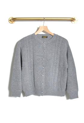 Le Mont St Michel Guirec Cardigan Grey - S | grey | angora - Grey/Grey