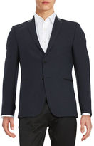 Strellson Faux Leather-Trimmed Two-Button Jacket