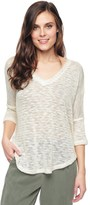 Splendid White Slub Short Sleeve Pullover