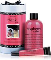 philosophy Thank You - Rasberry Sorbet Gel 240ml & Lip Shine