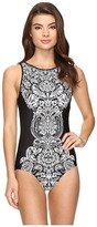 Jantzen Damask High Neck One-Piece