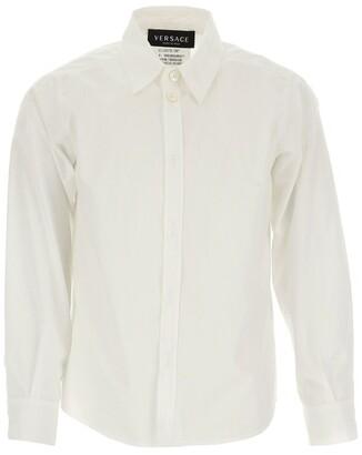 Versace Logo-Collar Tailored Shirt (4-14 Years)