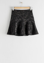 Thumbnail for your product : And other stories Ruffle Hem Mini Jacquard Skirt