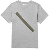 Saturdays NYC Slash Slim-Fit Printed Mélange Cotton-Jersey T-Shirt