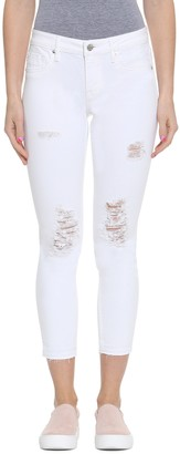 Vigoss Women's Release Hem Crop Straight Chelsea Jean