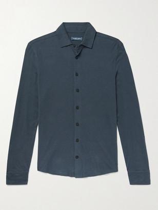 Frescobol Carioca Slim-Fit Cotton and Linen-Blend Jersey Shirt - Men - Blue