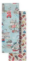 Cath Kidston London Town Set of Two Tea Towels